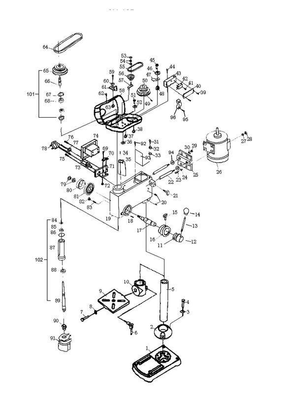 ersatzteile zu tcsb 512 1 top craft s ulenbohrmaschine. Black Bedroom Furniture Sets. Home Design Ideas
