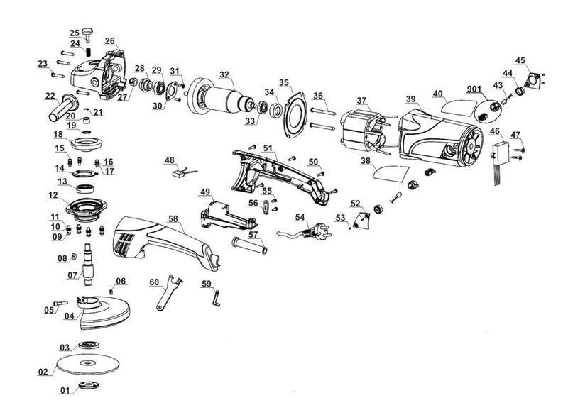 Ersatzteile zu A-WS 2000 - Alpha Tools Winkelschleifer