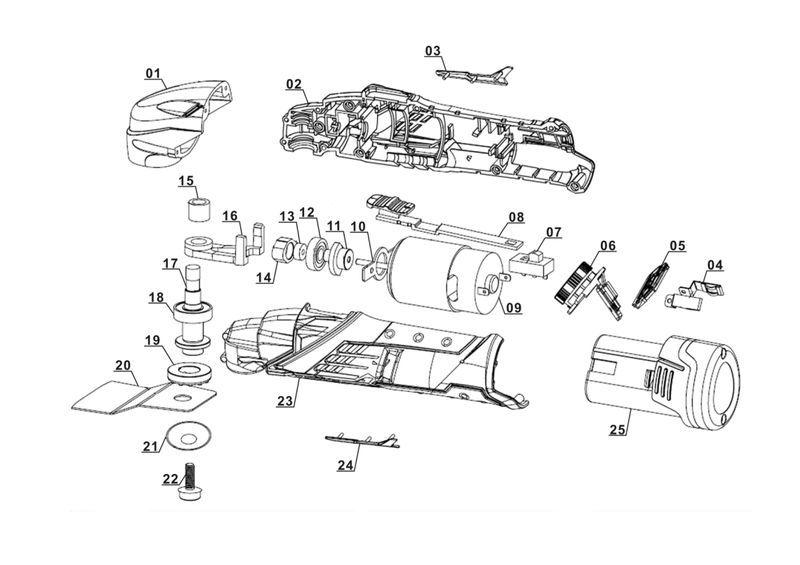 Einhell Akku-Multifunktionswerkzeug RT-MG 10,8 Li