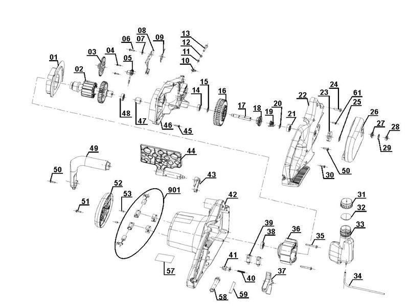 ersatzteile zu pks 1840 1 einhell elektro kettens ge. Black Bedroom Furniture Sets. Home Design Ideas