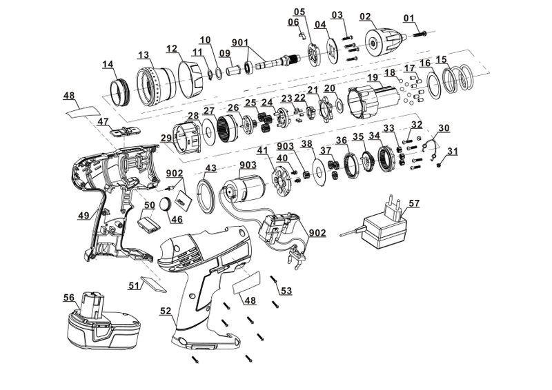 ersatzteile zu wzas 14 4 li workzone akku bohrschrauber. Black Bedroom Furniture Sets. Home Design Ideas