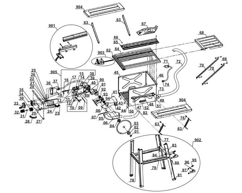 ersatzteile zu wzts 1701 workzone tischkreiss ge. Black Bedroom Furniture Sets. Home Design Ideas
