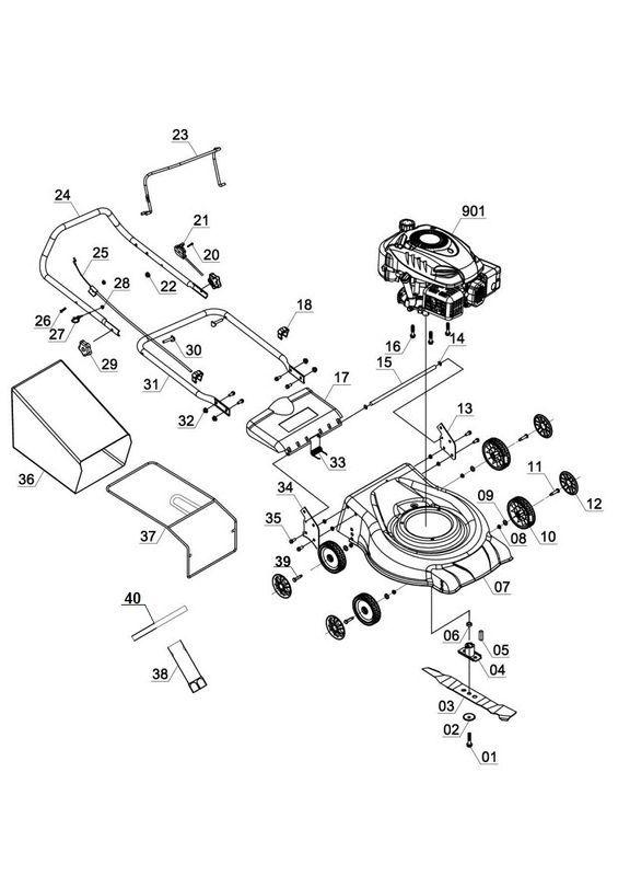 ersatzteile zu rm 40 1 hanseatic hanseatic benzin rasenm her. Black Bedroom Furniture Sets. Home Design Ideas