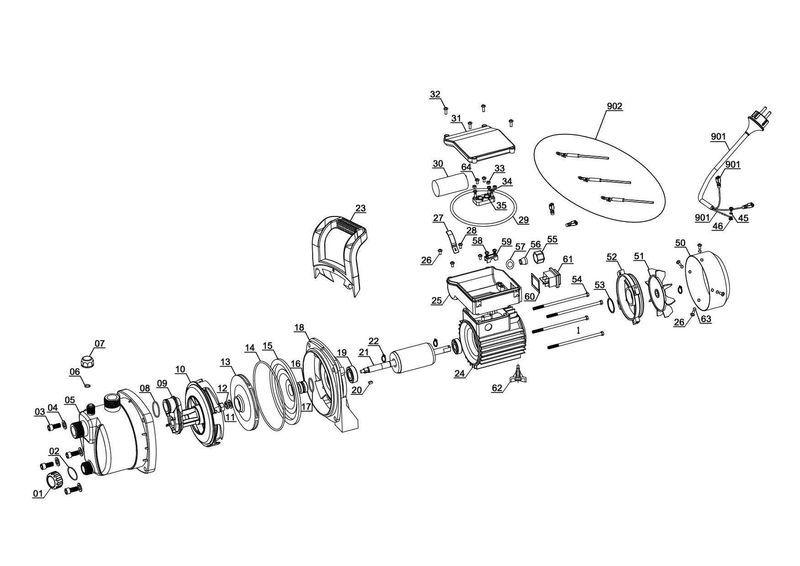 Ersatzteile zu gc gp 6538 einhell gartenpumpe - Einhell gartenpumpe anleitung ...