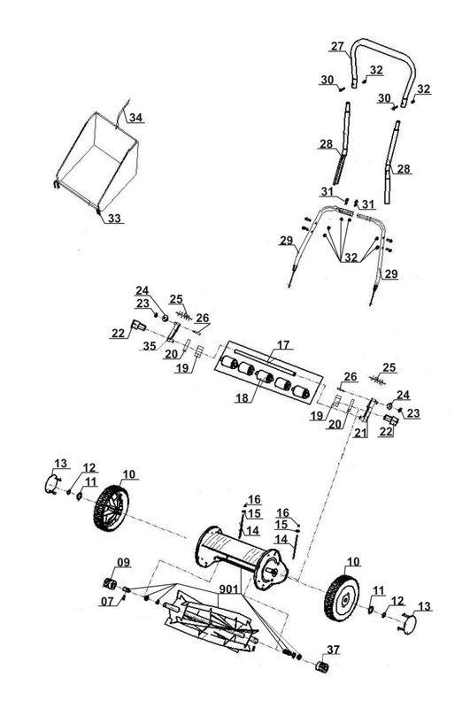 ersatzteile zu gc hm 40 einhell hand rasenm her. Black Bedroom Furniture Sets. Home Design Ideas