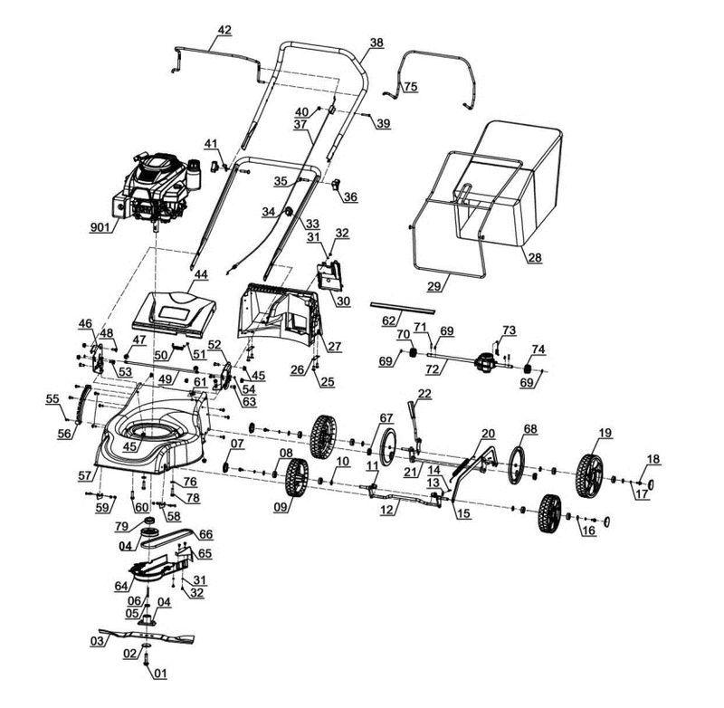 GC-PM 46/1 S B&S - Benzin-Rasenmäher