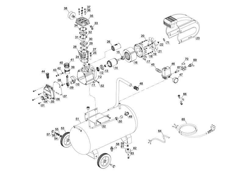 ersatzteile zu tc ac 190 24 8 ex arg einhell kompressor. Black Bedroom Furniture Sets. Home Design Ideas