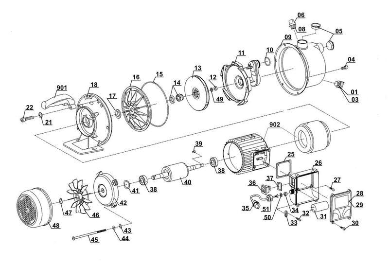 Ersatzteile zu tcgp 1010 top craft gartenpumpe - Einhell gartenpumpe anleitung ...