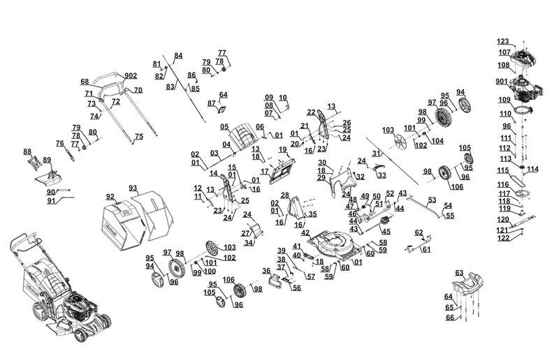 ersatzteile zu rm 56 ra hanseatic hanseatic benzin. Black Bedroom Furniture Sets. Home Design Ideas