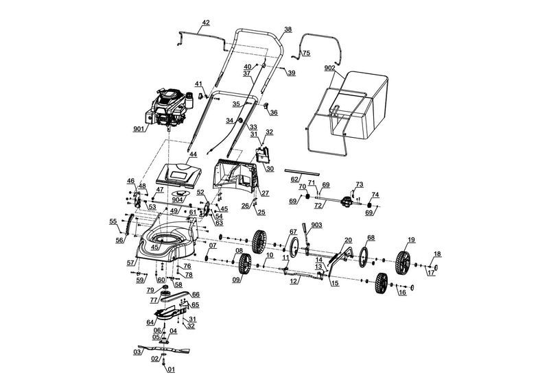 Spareparts For Gc Pm 46 1 S B Amp S Einhell Petrol Lawn Mower
