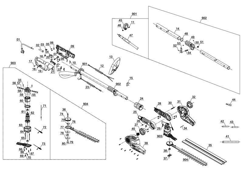 ersatzteile zu gc hh 5047 einhell elektro stab heckenschere. Black Bedroom Furniture Sets. Home Design Ideas