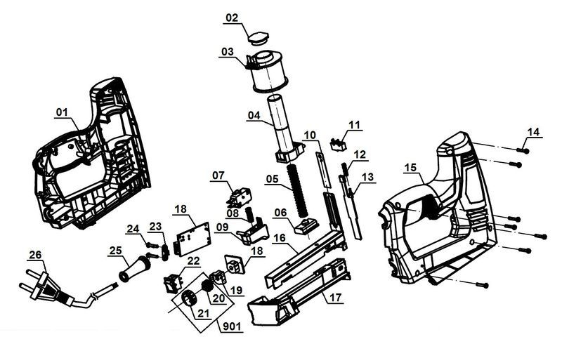 Einhell TC-EN 20 E Elektrotacker Softgrip inkl 1000 Klammern und 500 Nägeln NEU