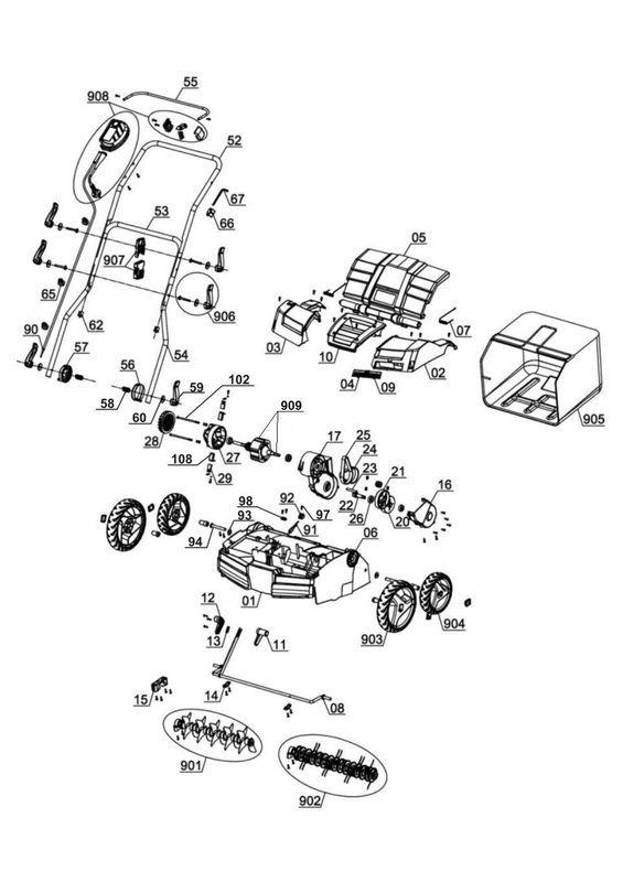 * Einhell GE SA 1640 Elektro Vertikutierer Lüfter