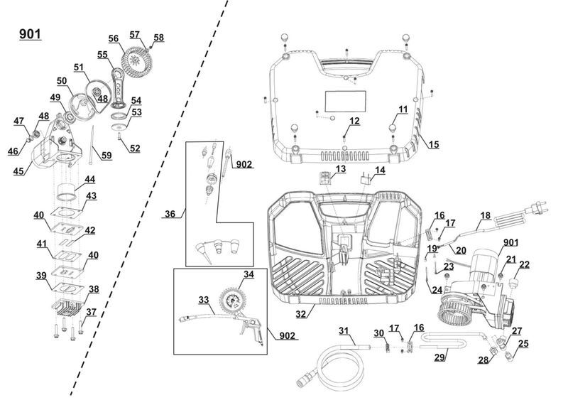 ersatzteile zu d ac 193 ex be duro pro kompressor. Black Bedroom Furniture Sets. Home Design Ideas