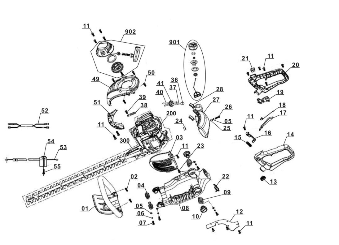 Inredning häcksax test : Petrol Hedge Trimmer GE-PH 2555 A - Einhell