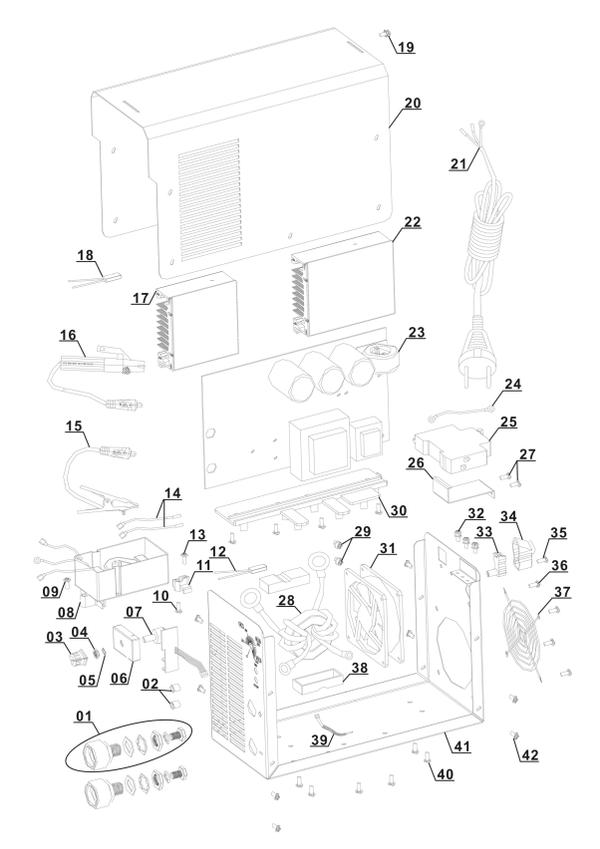 Ersatzteile Inverter-Schweissgerät BT-IW 150
