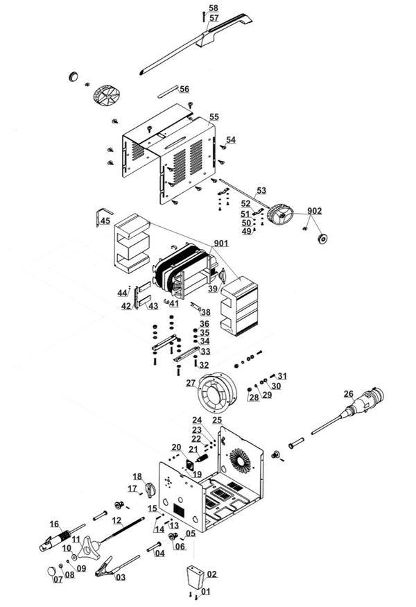 Tartalék alkatrészek Elektromos hegesztőgép BT-EW 200