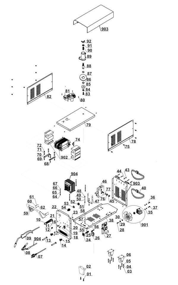 Ersatzteile Schutzgas-Schweissgerät BT-GW 150