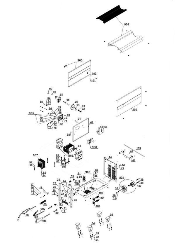 Ersatzteile Schutzgas-Schweissgerät BT-GW 190 D