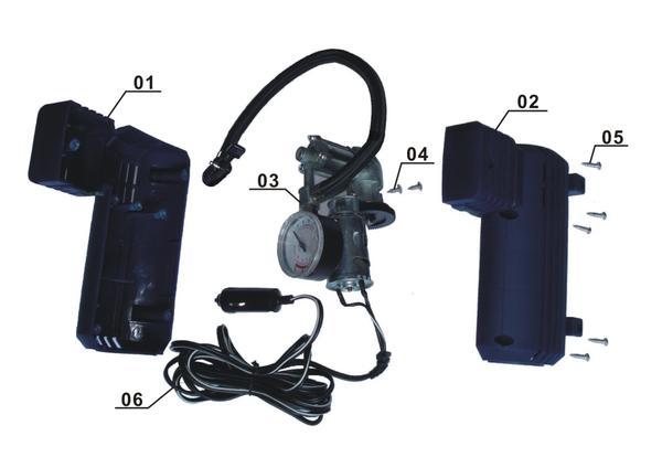 Tartalék alkatrészek Autó kompresszor BT-AC 12V