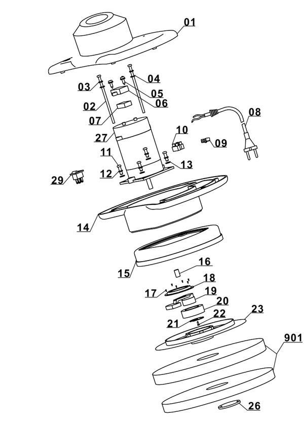 Refacciones Masina de polisat BT-PO 90