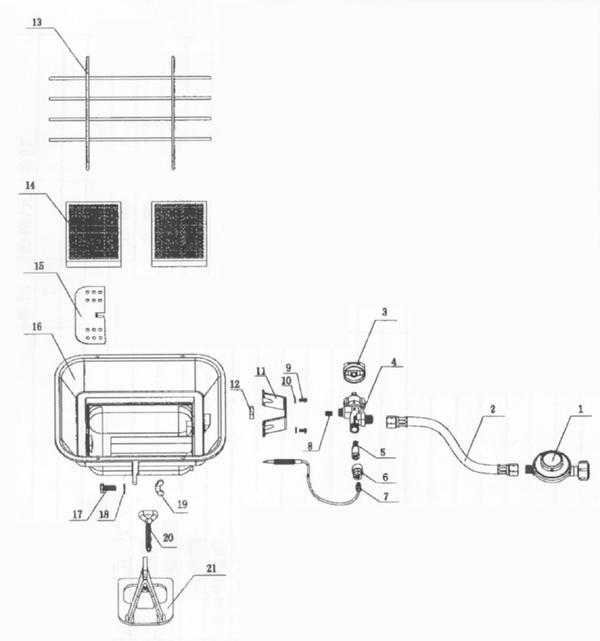 Ersatzteile Gasheizstrahler GS 4600 (DE/AT)