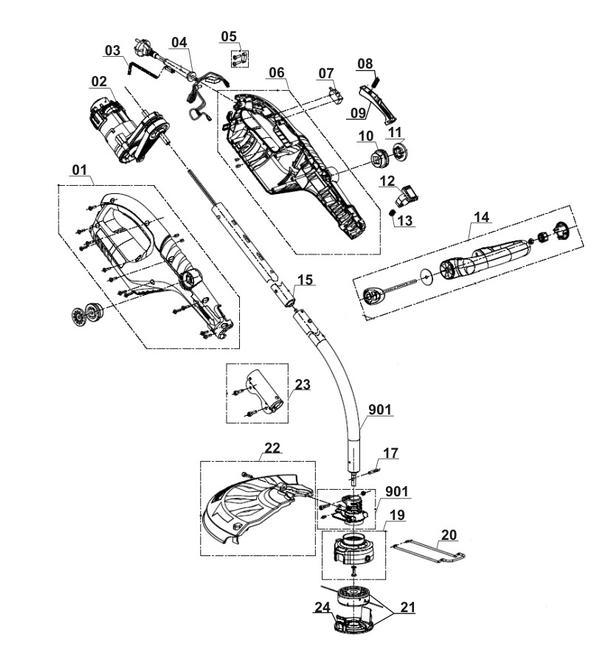 Ersatzteile Elektro-Rasentrimmer RG-ET 7535