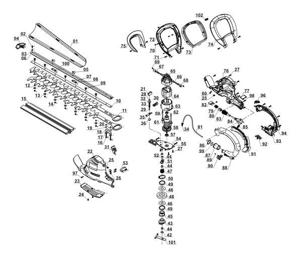 Ersatzteile Elektro-Heckenschere RG-EH 7160