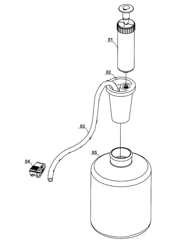 Tartalék alkatrészek Szerszám tartozékok Petrol and oil suction pump