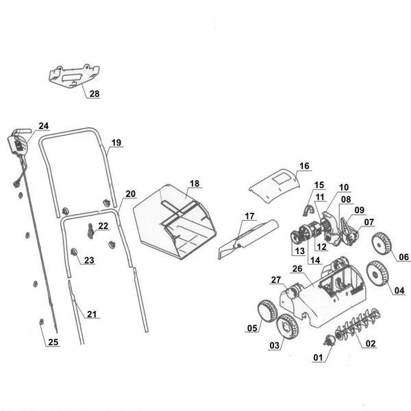 Ricambi Arieggiatore / scarificatore elettrico RG-SA 1433