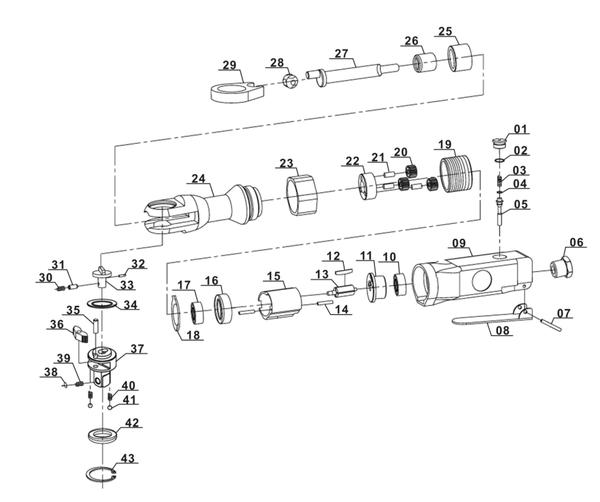 Ricambi Avvitatore a cricchetto pneumatico DRS 200/2