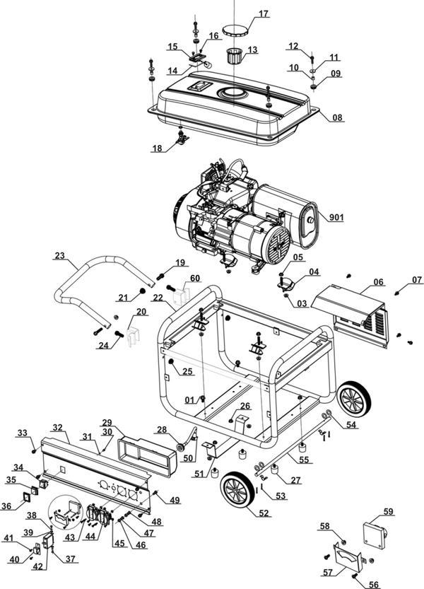 Ricambi Generatori di corrente (benzina) BT-PG 3100/1