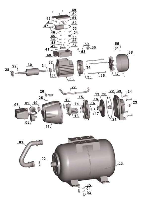 Refacciones Hidrofor BG-WW 636