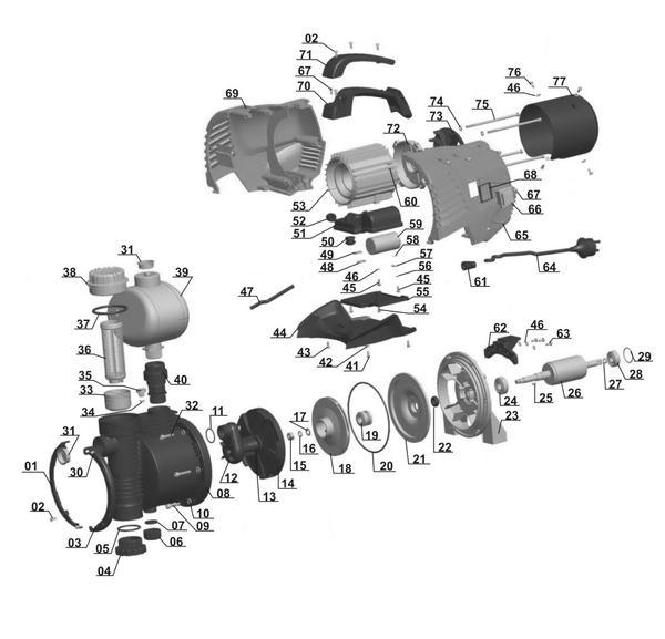 Refacciones Grupo automático GE-AW 5537 E