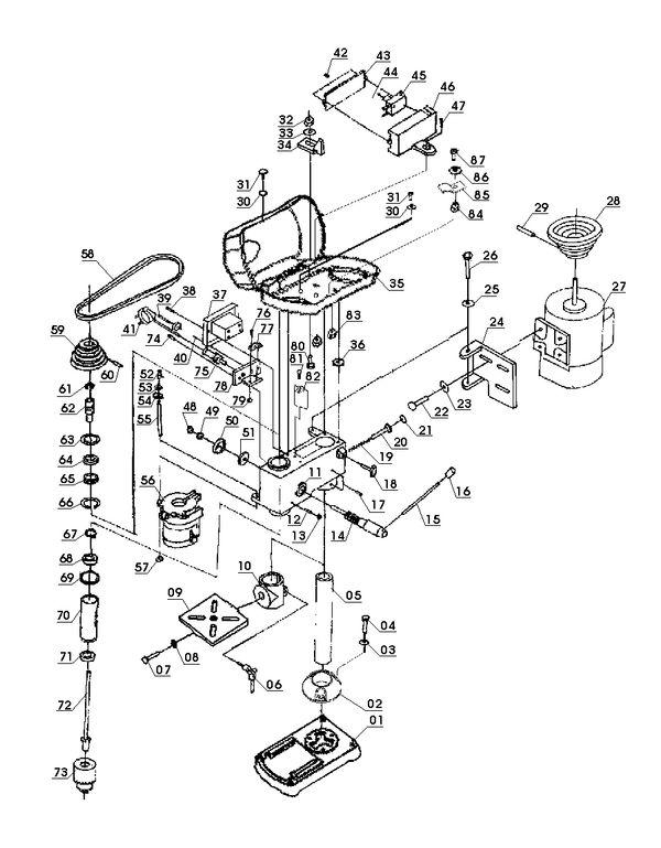 Ersatzteile Säulenbohrmaschine BT-BD 401