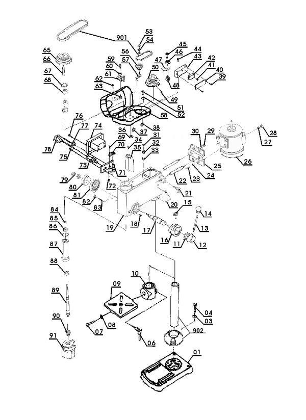 Refacciones Taladro de columna BT-BD 501