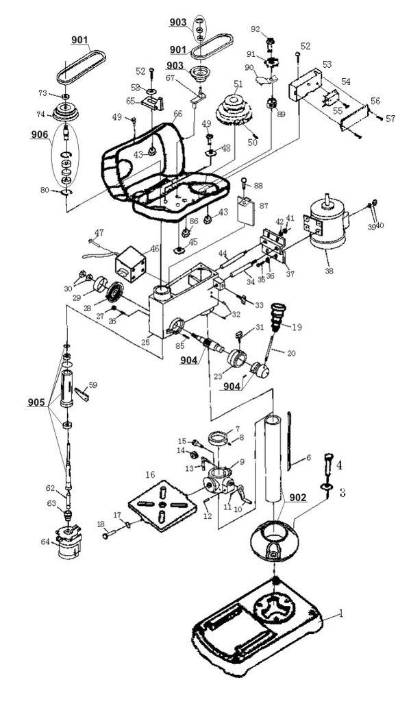 Tartalék alkatrészek Állványos fúrógép BT-BD 701