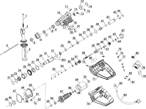 Ersatzteile Bohrhammer TH-RH 800 E