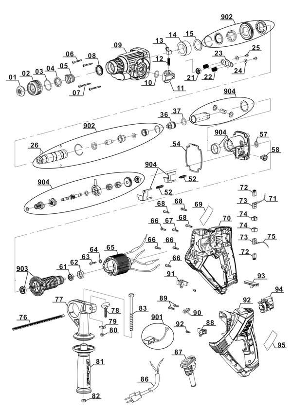 Ersatzteile Bohrhammer RT-RH 20
