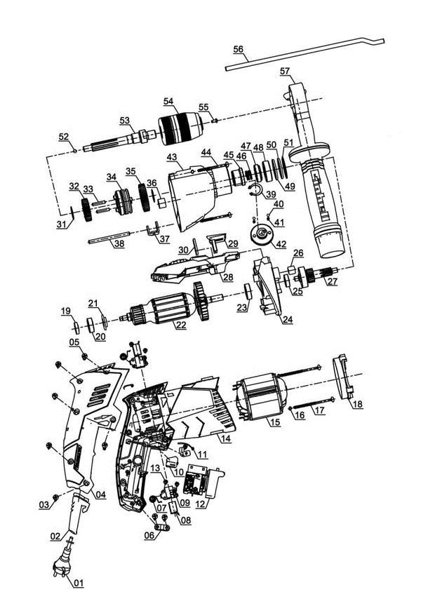 Ersatzteile Schlagbohrmaschine TE-ID 1050/1 CE