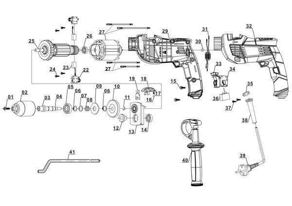 Peças de reposição Impact Drill TH-ID 720/1 E