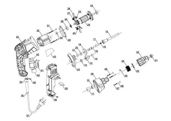 Ersatzteile Trockenbauschrauber TH-DY 500 E