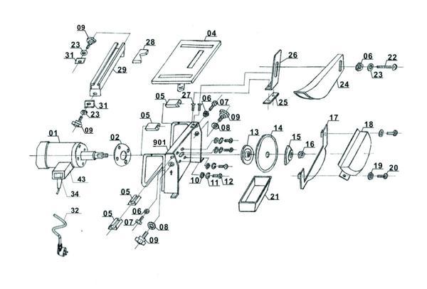 Spareparts Tile Cutting Machine TH-TC 618