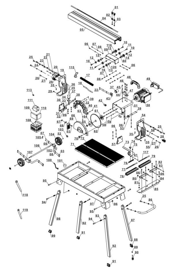 Tartalék alkatrészek Radiális csempevágó gép TE-TC 620 U