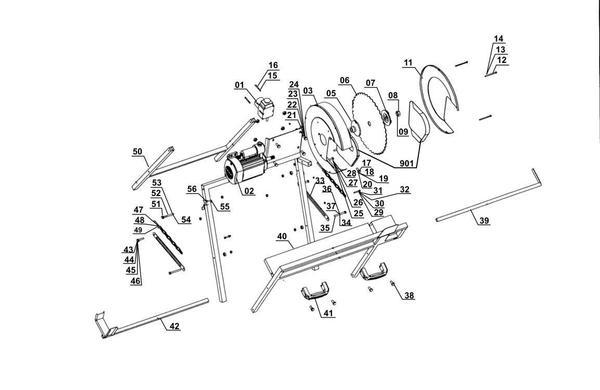 Refacciones Sierra para leña BT-LC 400/2