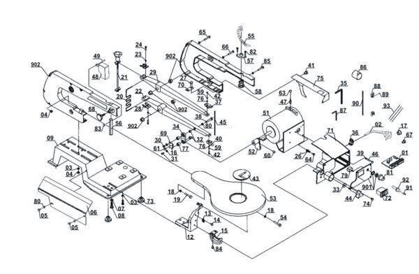 Ricambi Traforo oscillante TH-SS 405 E