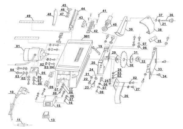 Ricambi Sega circolare con banchetto TH-TS 820