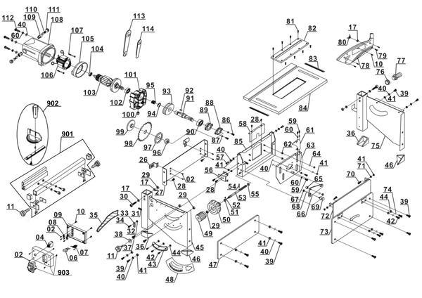 Ersatzteile Tischkreissäge RT-TS 920