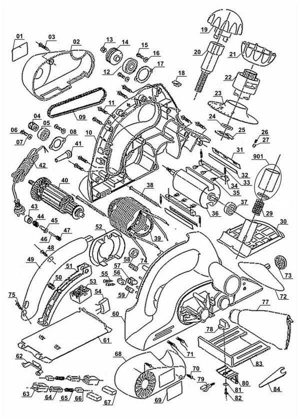Refacciones Cepillo eléctrico BT-PL 750