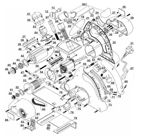 Ricambi Pialletti elettrici BT-PL 900
